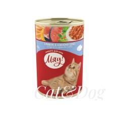"""""""Мяу!""""Вологий корм для котів з рибою в ніжному соусі"""