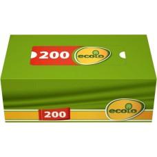 Серветки косметичні Ecolo 2-х шарові , 200 шт