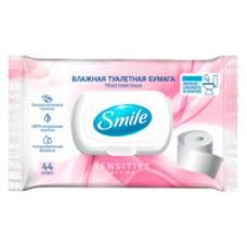 Вологий туалетний папір для дорослих Smile Sensitive 44 шт