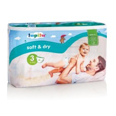 Підгузки Lupilu Soft & dry 3  (4-9 кг) 56 шт