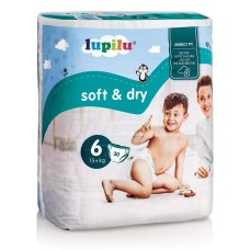 Пiдгузники Lupilu Soft & Dry 6 (15+ кг) 30шт