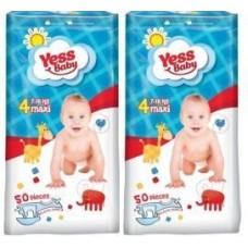 Пiдгузники Yess Baby  4 Maxi 7-18 кг JUMBO  (50 шт)