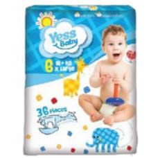Пiдгузники Yess Baby X Large 6  16+кг JUMBO  (36 шт)