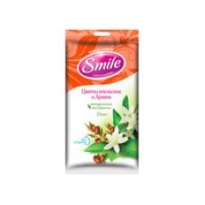 """Вологі серветки """"Квіти апельсина й аргана"""" Smile  15 шт"""