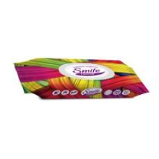 Вологі серветки з антибактеріальним ефектом Smile Decor Color Mix  60 шт