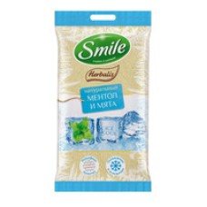 "Вологі серветки ""Herbalis Ice cool"" Smile  10 шт"