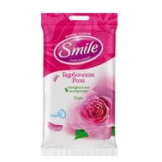 """Вологі серветки """"Бурбонська троянда"""" Smile 15 шт"""
