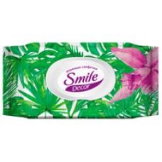 Вологі серветки з антибактеріальним ефектом Smile Decor Tropics  60 шт