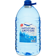 Карпатська Джерельна, вода мінеральна столова негазована 6 л