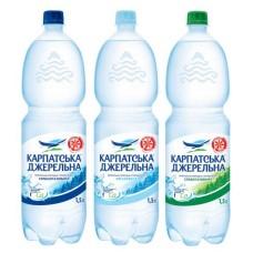 Карпатська Джерельна, вода мінеральна слабогазована 1,5 л